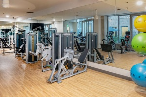 Open and Well-lit Fitness Center