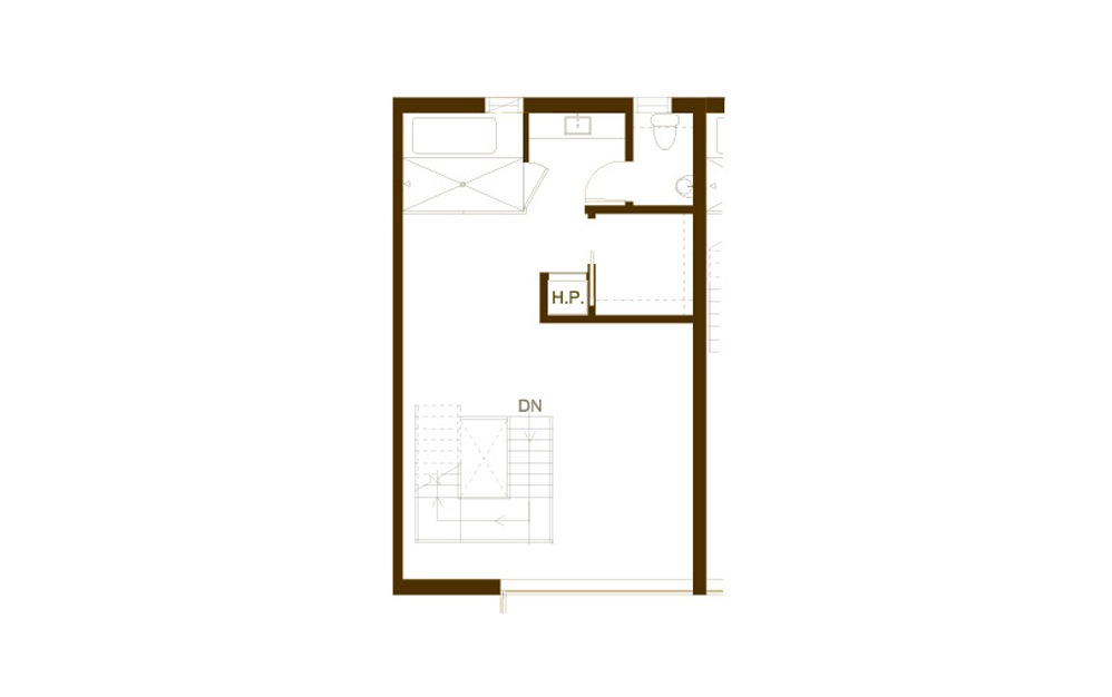 PH10 2 Bed 2 Bath Floorplan