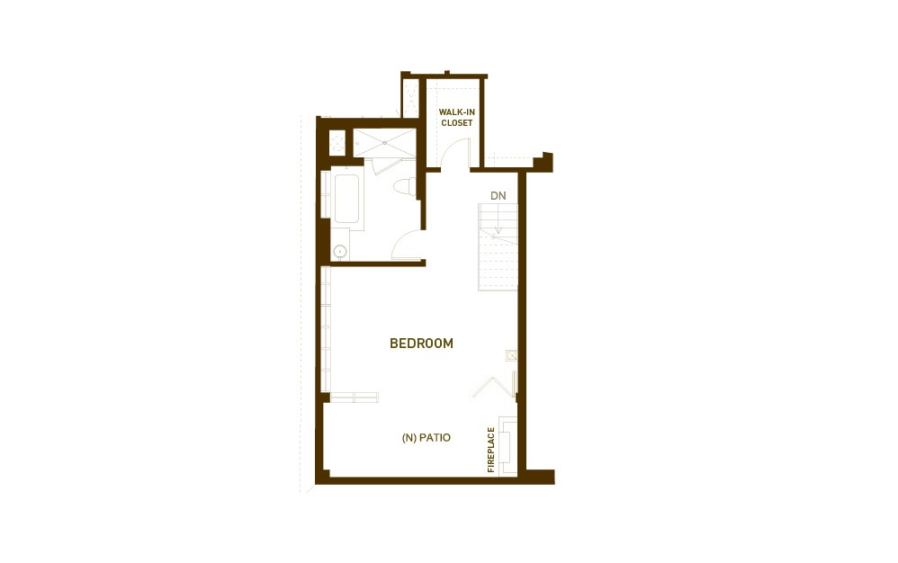 PH16 2 Bed 2.5 Bath Floorplan
