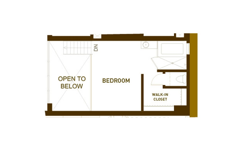 PH5 1 Bed 2 Bath Floorplan