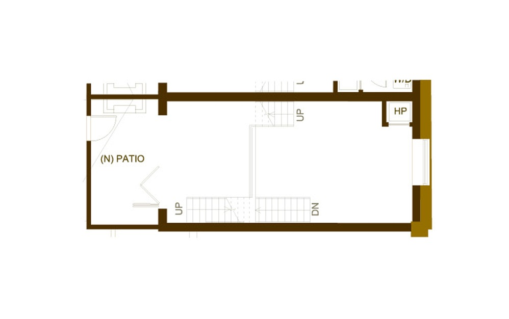 PH8 1 Bed 2 Bath Floorplan