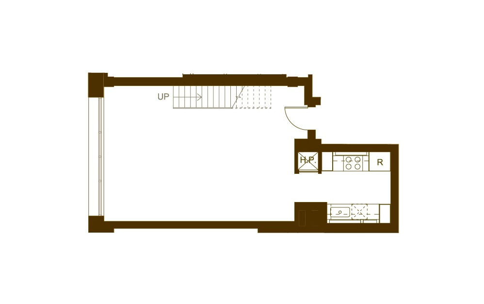 Q 2 Bed 2 Bath Floorplan